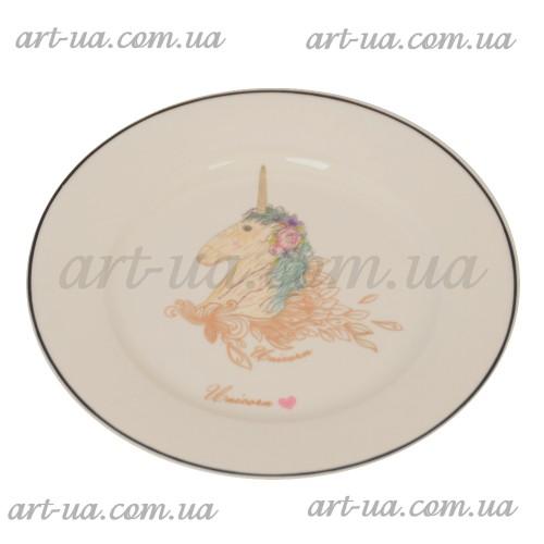 """Тарелка обеденная круглая 20 см """"Unikorn"""" TR053"""
