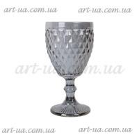 "Декоративный бокал крашенное стекло ""Rhombus small"" серебро VB852"