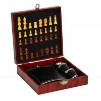 """Подарочный набор """"Шахматы с флягой Jack Daniels"""" FT295"""