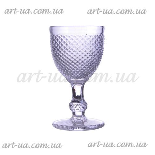 """Декоративный бокал крашенное стекло """"Versailles"""" серебро VB866"""