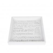 "Поднос  ""Coffee"" белый  PR297"