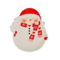 """Новогодняя тарелка """"Снеговик"""" 29*21см NG07"""