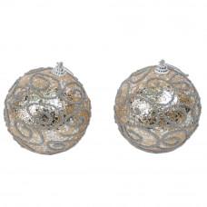 Набор новогодних шаров  из 2 шт  NG249