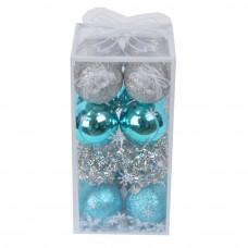 Набор новогодних шаров  из 16 шт  NG254
