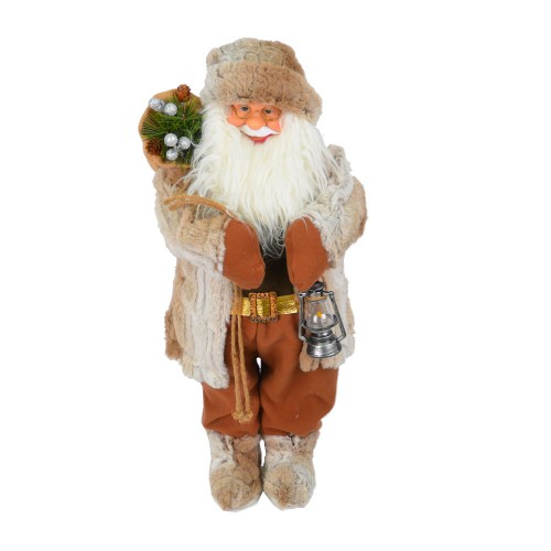 Дед Мороз с фонарем 70 см NG8504