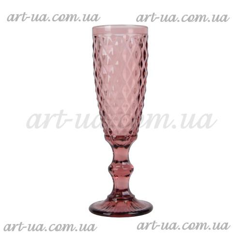 """Бокал под шампанское """"Rhombus small"""" фиолетовый VB623"""