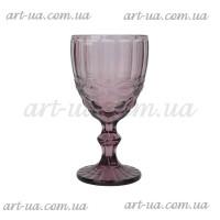 """Бокал стекло """"Ornament"""" фиолетовый VB701"""