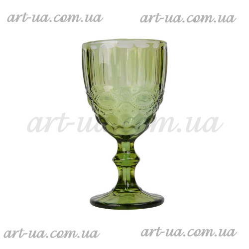 "Бокал стекло ""Ornament"" зеленый VB702"