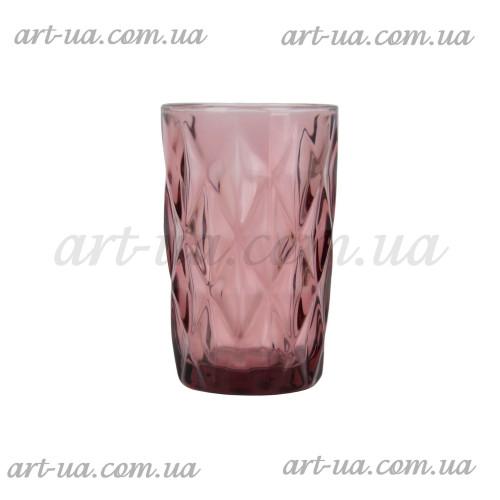 """Стакан """"Rhombus large"""" фиолетовый 350мл  VB703"""