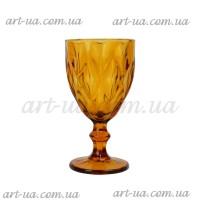 """Бокал стекло """"Rhombus"""" желтый VB719"""