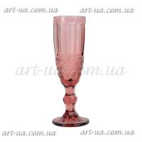 """Бокал под шампанское """"Ornament"""" фиолетовый VB786"""
