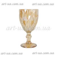 """Декоративный бокал крашенное стекло """"Rhombus"""" свет. золото VB849"""