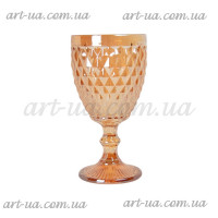 """Декоративный бокал крашенное стекло """"Rhombus small""""  золото VB853"""