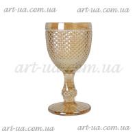 """Декоративный бокал крашенное стекло """"Versailles"""" свет. золото  VB857"""