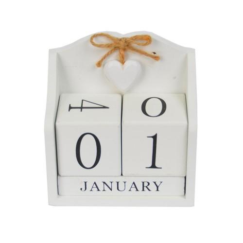 Вечный календарь белый PR777