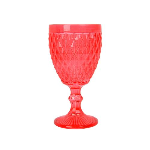 "Бокал стекло ""Rhombus small"" красный VB848"