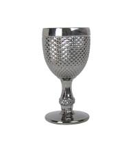 "Бокал стекло ""Versailles"" серебро  VB856"