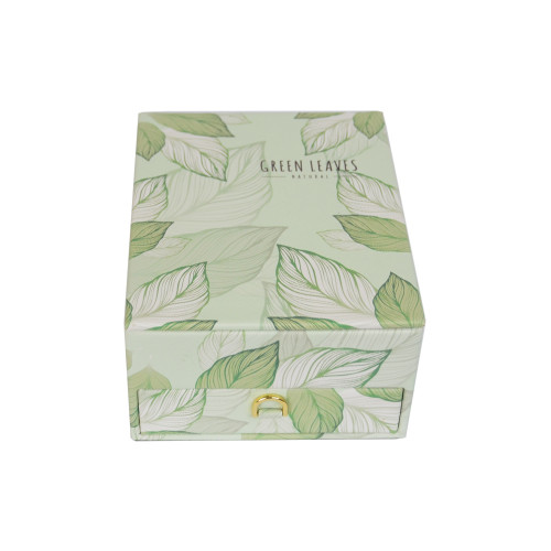 "Шкатулка для ювелирных украшений ""Green leaves"" J145"