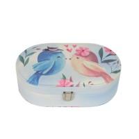 """Шкатулка для ювелирных украшений """"Birds"""" овал  J780"""
