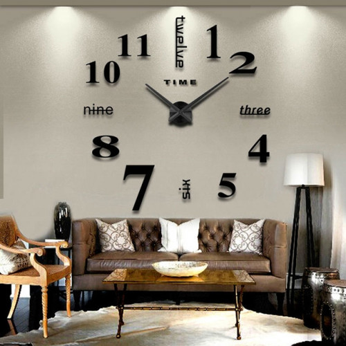 """Часы настенные 3D """"DIY"""" большие ZH015"""
