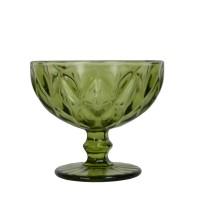 "Креманка стекло """"Rhombus large"" зеленая VB074"