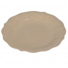 "Тарелка ""Pearl"" бежевая  21 см TR036"