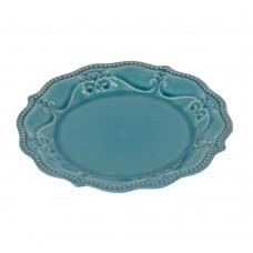 "Тарелка ""Pearl"" синяя 21 см TR038"