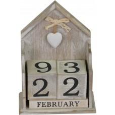 """Вечный календарь """"Домик""""серый PR333"""