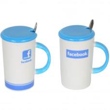 """Кружка  с ложечкой """"Facebook"""" CM601"""