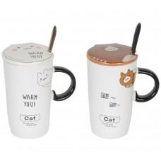 "Кружка  с ложечкой ""Cat"" CM877"