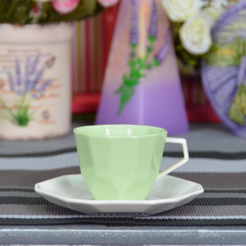 """Набор фарфоровых чашек с блюдцами """"Rhombus S"""" FR226"""