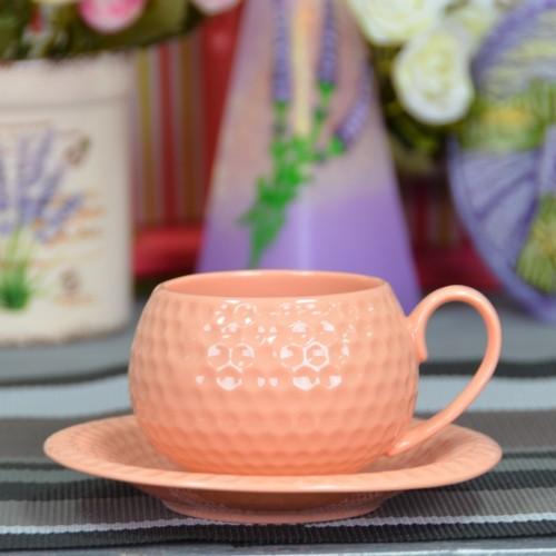 """Набор фарфоровых чашек с блюдцами """"Elegant L""""  FR227"""