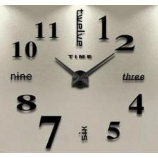 """Часы настенные 3D """"DIY"""" ZH015 БОЛЬШИЕ черные"""