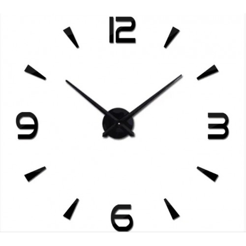 """Часы настенные 3D """"DIY"""" ZH034 СРЕДНИЕ черные"""