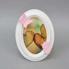 "Фоторамка настольная ""Butterfly"" овал PR014"