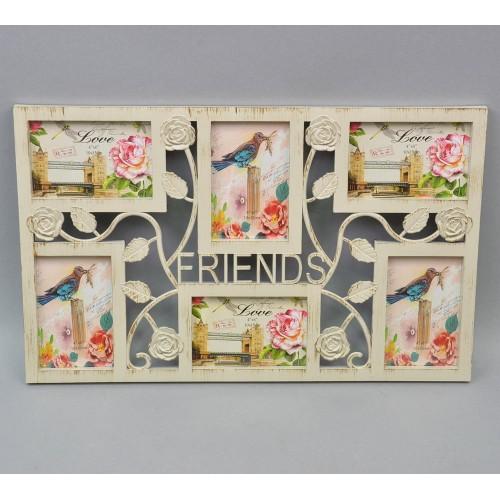 """Фоторамка настенная """"Friends"""" на 6 фото R306"""