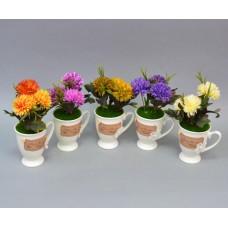 Цветы искусственные (чашка) SU9236