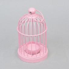 """Подсвечник розовый """"Клетка"""" FA395"""