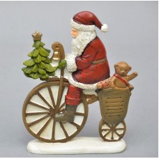 "Декор - фигурка ""Дед Мороз на велике"" KSN368"
