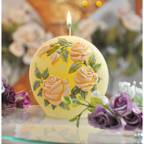 "Cвеча ""Садовая роза"" диск 110мм   SW333"