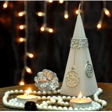 """Свеча пирамида  """"Christmas Bauble"""" 50*150 S718"""