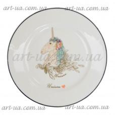 """*Тарелка обеденная круглая 20 см """"Unikorn"""" TR053"""