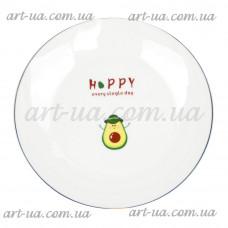 "*Тарелка обеденная круглая 20 см ""Avokado"" TR057"
