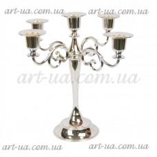 """Подсвечник канделябр на 5 свечей """"Silver"""" M6305"""