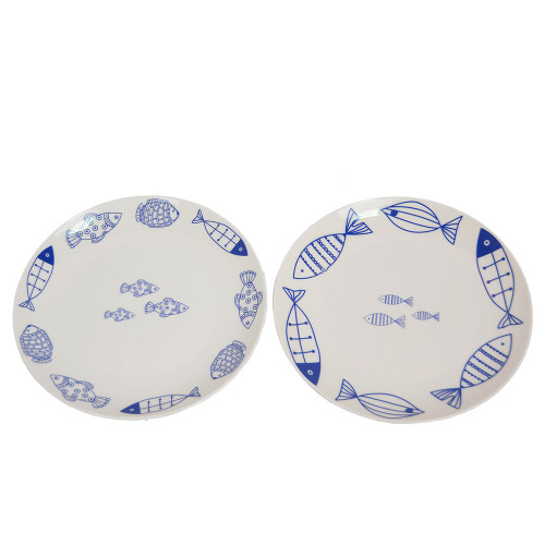 "Тарелка обеденная 20 см ""Fish"" TR046"
