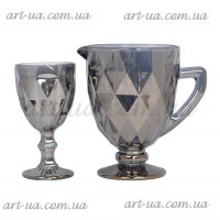 "Набор графин и 6 бокалов ""Rhombus"" серебро VB219"