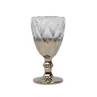"""Бокал стекло """"Rhombus"""" серебро VB868"""