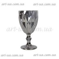"""Бокал стекло """"Rhombus""""  серебро VB851"""