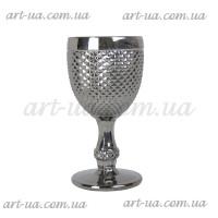 """Декоративный бокал крашенное стекло """"Versailles"""" серебро  VB856"""