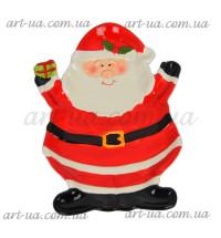 """Блюдо сервировочное """"Санта с подарком"""" NG071"""